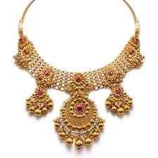 gold necklace jewellery images Wedding gold necklace bridal gold necklace set polki necklace set jpg