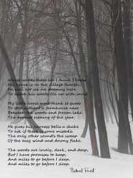 poem stopping by woods on a snowy evening robert frost http