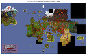 map of hcim deaths so far 2007scape
