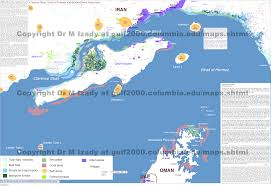 Columbia World Map by Gulf Of Bahrain Maps The Gulf 2000 Project Sipa Columbia
