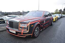 wrapped rolls royce phantom menace rolls royce 2016 gumball 3000 team wolfpack