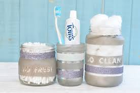 Bathroom Storage Jars Make Your Own Upcycled Bathroom Storage Jars Makes