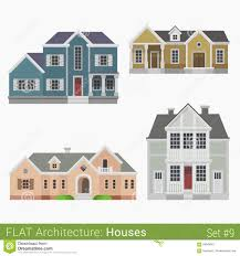 flat style vector countryside townhouse stock vector image 59049801