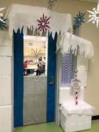 my winter wonderland classroom door ran over to the speech room