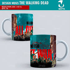 mug design the walking dead design for sublimation the mugs