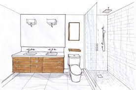 Small Bathroom Design Floor Plans Superb Narrow Bathroom Floor - Bathroom designs floor plans