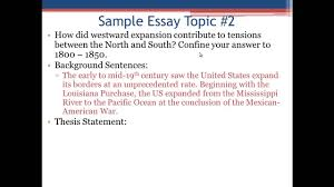 Examples Of Topic Sentences For An Essay Apush Review The Introductory Paragraph And Thesis Statement