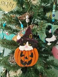 halloween cat decor halloween cat ornament tuxedo cat