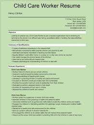 Resume Template For Kids Sample Child Care Worker Resumes For Microsoft Word Doc