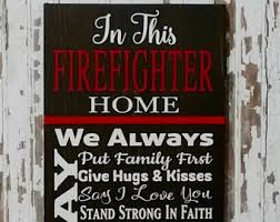 firefighter home decorations firefighter decor etsy