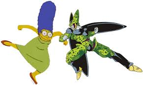 android 18 and cell vs cell marge krumping your meme