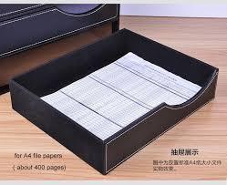 Desktop Filing Cabinet Wood Leather 3 Drawer A4 Desktop File Cabinet Office Table