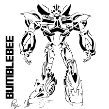 Download Coloring Pages Bumblebee Transformer P And Transformers Transformer Color Page