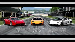 ferraris and lamborghinis forza motorsport 4 battle s1 e5 vs mclaren vs