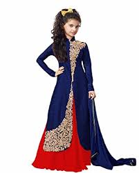 fashion vogue girls art silk princess birthday party wear dress 11