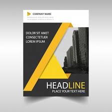 architecture layout design psd yellow and black annual report book cover template vector free