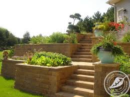 retaining walls terraces planters villa landscapes