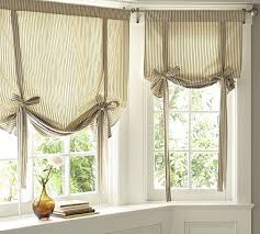 Tie Up Curtains Burlap Curtains Kitchen Valance Faux Leather Tie Up Country