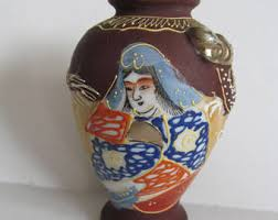 Japanese Dragon Vase Moriage Vase Etsy
