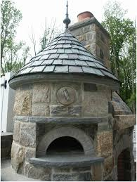backyards fascinating outdoor kitchen brick pizza oven on stone