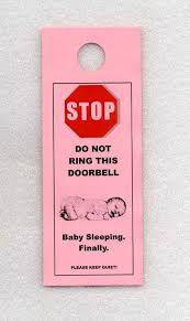 Funny Door Stops by Baby Sleeping Finally The Do Not Disturb Door Signs That