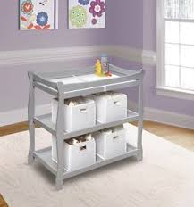 Sleigh Style Changing Table Badger Basket Sleigh Style Changing Table Gray 22366 Baby
