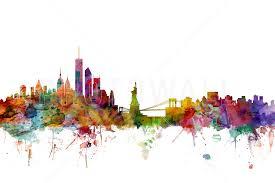 8 wall art new york skyline new york city skyline wall decal nyc new york skyline wall art new york skyline wall mural photo