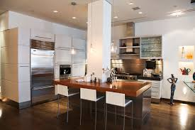 kitchen island columns interior renovation of soho loft tagco construction inc