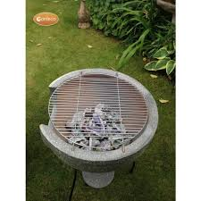 Clay Chiminea Bbq Buy Gardeco Large Cozumel Two Part Bbq Clay Chiminea Granite Effect