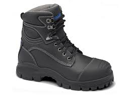 womens steel toe boots nz s or s black leather ankle high work and safety boots
