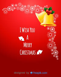postcard i wish you a merry with a pair of bells in the