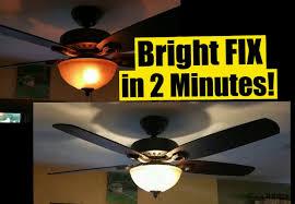 is led light safe 2 min fix for dim ceiling fan lights safe no wiring wattage