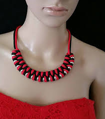 braided rope necklace images Unique handmade women accessories miami florinela designs jpg