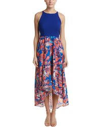 hutch peachy high low dress in blue lyst