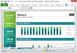 Excel Templates For Tracking Diet And Exercise Goal Tracking Template For Excel 2013