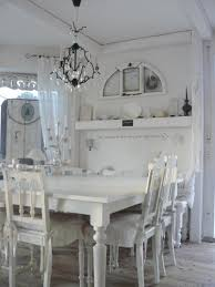 shabby chic dining room tables classic modern white leather fabric