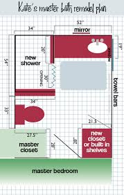 bathroom floor plans for kate u0027s master bathroom remodel retro