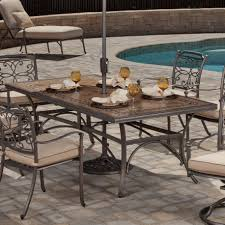 Agio Manhattan by Agio Tradition Alumicast Outdoor Rectangle Porcelain Top Dining
