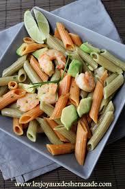 cuisine de sherazade salade de pâtes à l avocat et aux crevettes recipe lunches and food