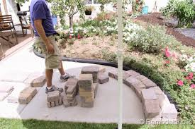 Rumblestone Fire Pit Insert by Diy Rumblestone Seat Wall And Fire Pit Kit Installation Walls