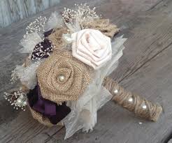 burlap flowers beautiful bridal bouquets with handmade silk and burlap flowers