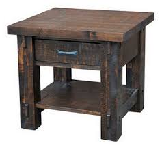 distressed wood end table solid wood end table style guide countryside amish furniture