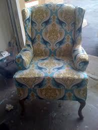furniture white twill supreme wingback chair slipcover