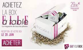 box cuisine une box cuisine signée à table par eatyourbox plateau tv