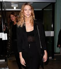 karlie kloss and lily donaldson dazzle at anthony vaccarello pfw