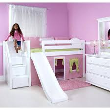 loft beds girls loft bed with slide beds princess castle twin