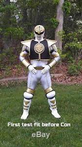 white power ranger costume cosplay suit armor mmpr tommy oliver
