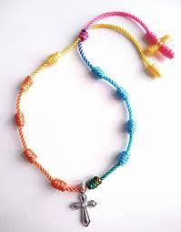 knotted rosary knotted rosary bracelet decennary bracelet catholic bracelet