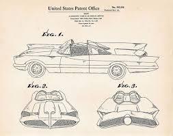 11 batman batmobile patent prints images