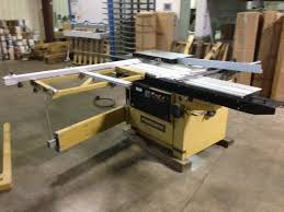 sliding table saw for sale powermatic hps67 67 sliding table saw machine for sale